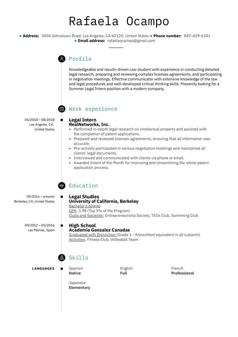 Sample Resume Judicial Internship Resume Ixiplay Free Resume Samples