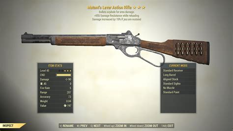 Legendary Level Action Rifle Fallout 76