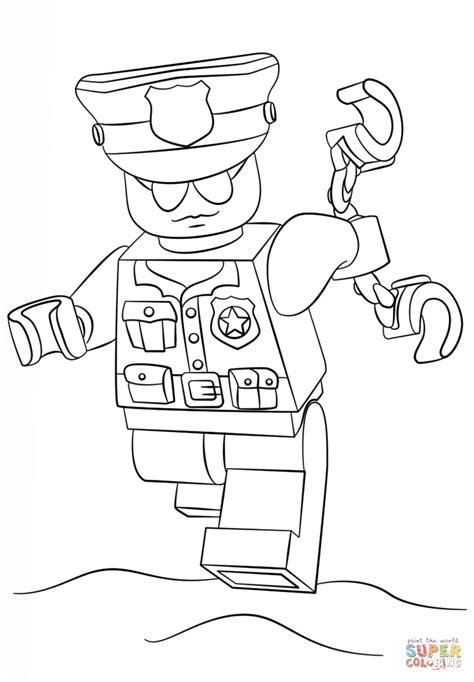 Lego Polizei Malvorlage