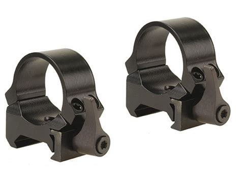 Leupold 1 QRW Quick-Release Weaver-Style Rings Gloss Low