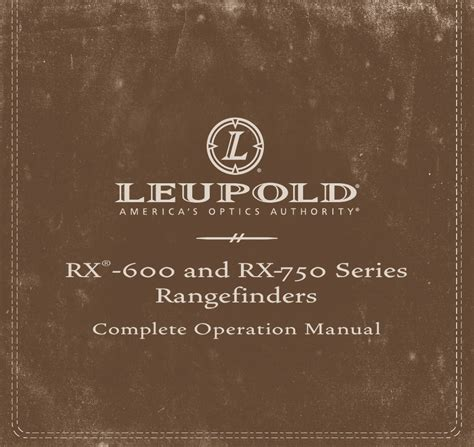 Leupold Rx600 Manual
