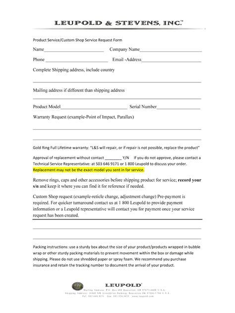 Leupold Warranty Information