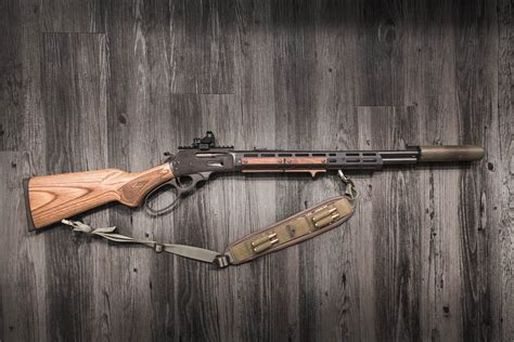 Lever Action Rifle With Rail
