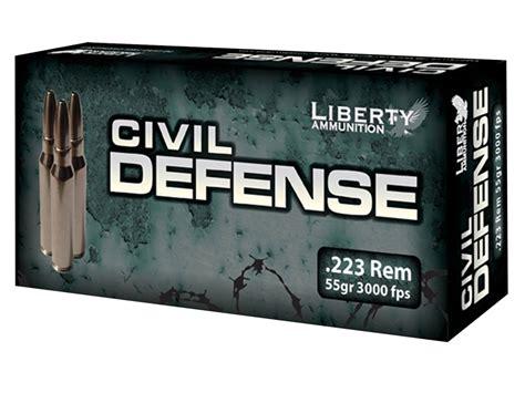 Liberty Ammunition Civil Defense Leadfree Rifle Ammo 223 Remington