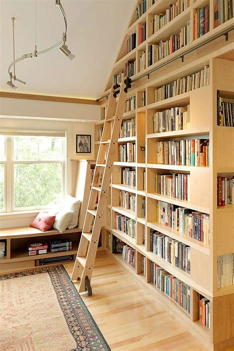 Library Shelving With Ladder Image