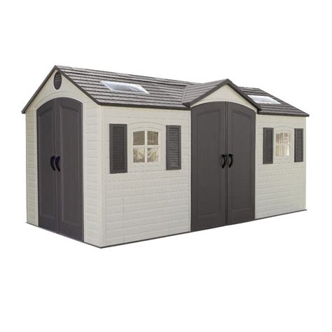 Lifetime 15 ft x 8 ft outdoor storage shed Image