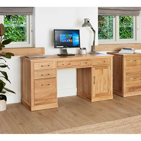 Light Oak Computer Desk Image