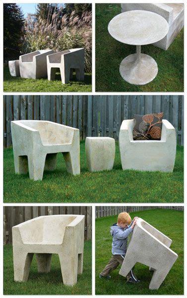 Lightweight concrete furniture diy Image
