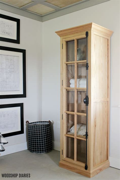 Linen Cabinet With Glass Doors Image