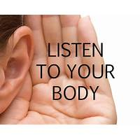 Listen to your body offer