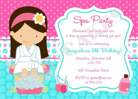 Little Girl Spa Party Invitations CV Templates Download Free CV Templates [optimizareseo.online]