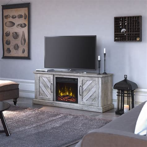 "Liu TV Stand for TVs up to 60"" with Fireplace"