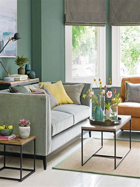Living Room Green Paint Ideas