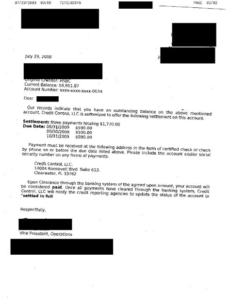 Loan Settlement Letter Template
