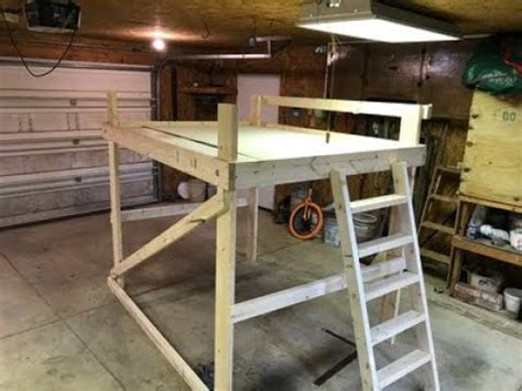 loft bed build diy 120 dollars queen size Image