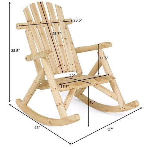 log rocking chair plans.aspx Image