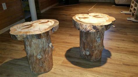 Log End Table Diy Image