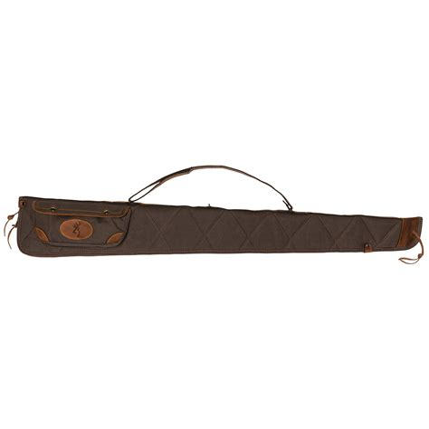 Lona Canvas Leather Shotgun Case Flint Brown And Rubber Bullets 12 Gauge Shotgun