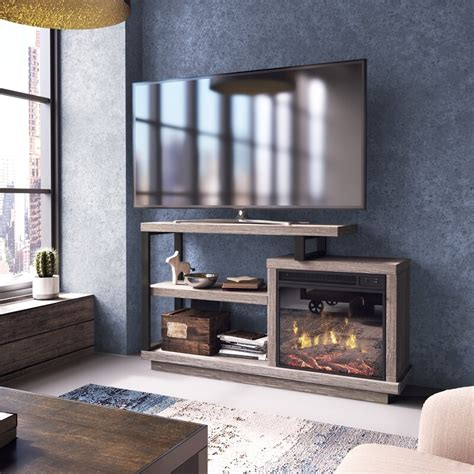 "Louann TV Stand for TVs up to 55"" with Fireplace"