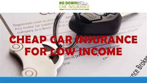 Low Income Auto Insurance