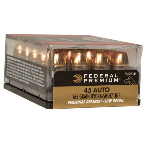 Low Recoil 45 Ammo