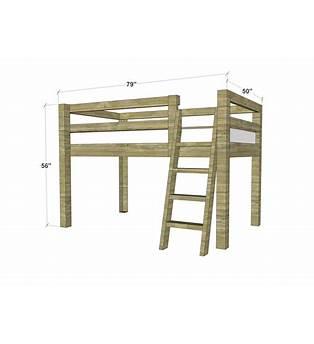 Low Loft Twin Bed Plans