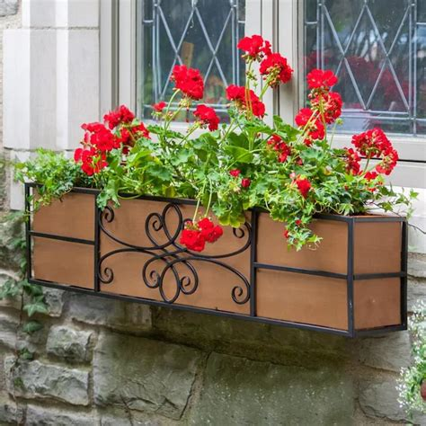 Lowes window flower boxes Image