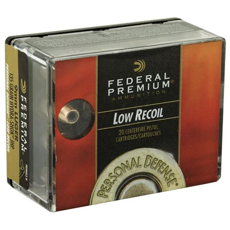 Lowest Recoil 9mm Defense Ammo