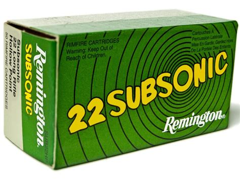 Lowprice Subsonic Hollow Ammo 22 Long Rifle 40gr Lead