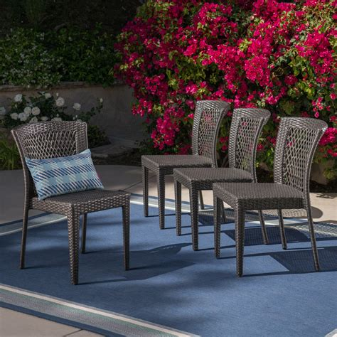 Lucia Stacking Patio Dining Chair (Set of 2)