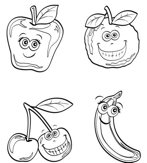 Lustige Ausmalbilder Obst