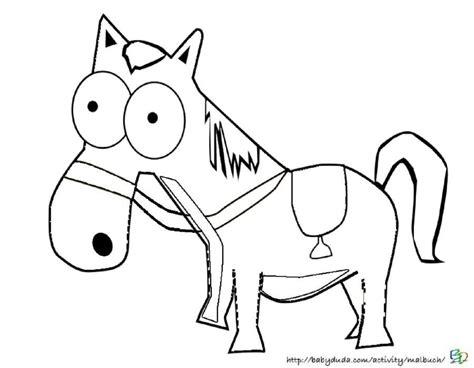 Lustige Pferde Ausmalbilder