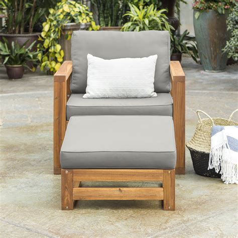 Lydon Patio Chair with Cushion and Ottoman