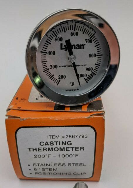 Lyman Lead Bullet Casting Thermometer 2867793