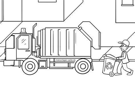 Müllabfuhr Malvorlage