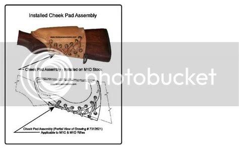M1 Garand Cheek Pad Lacing Diagram
