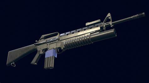 M16a1 M203 3d