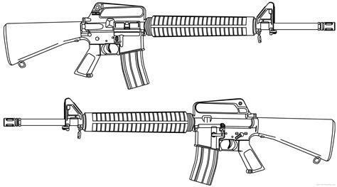 M16a2 Assault Rifle Drawing