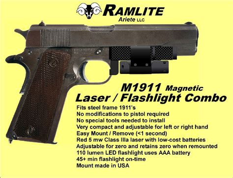 M1911 M1911a1 Officer Model Magnetically Attached Led