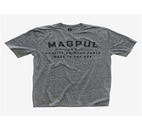 Magpul Megablend Go Bang Tshirts Megablend Go Bang Tshirt Charcoal Heather Xlarge