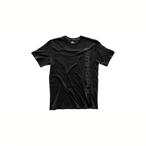 Magpul Mens Fine Cotton Vertical Logo Tshirts Fine Cotton Vert Logo Tshirt Black 2x