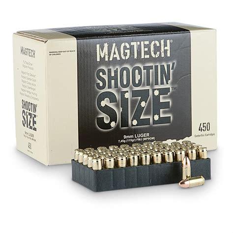 Magtech Shootin Size 9mm FMJ 115 Grain 450 Rounds