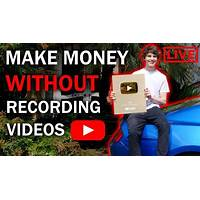 Make money from youtube with no filming, no marketing and no website! inexpensive