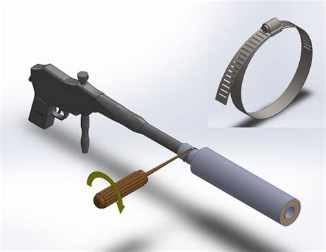 Making A Homemade Silencer For 22 Rifle