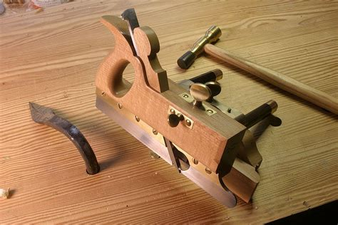 Making woodworking tools plow plane Image