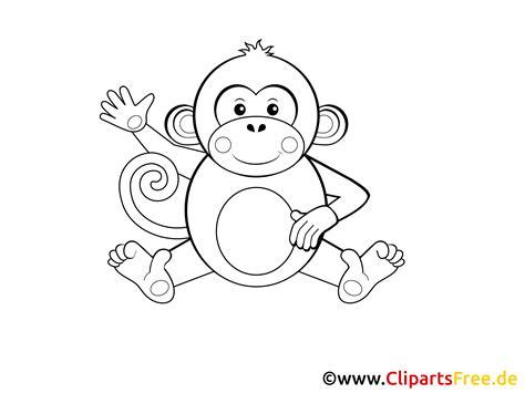 Malvorlage Affe Einfach