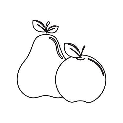 Malvorlage Apfel Und Birne