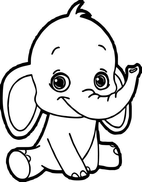 Malvorlage Baby Elefant