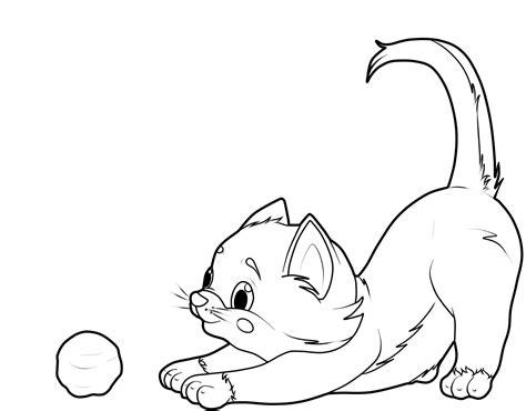 Malvorlage Baby Katze