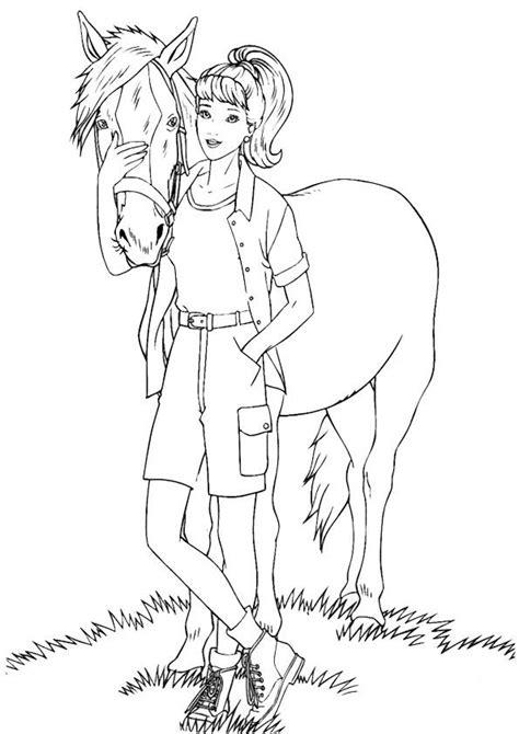 Malvorlage Barbie Pferd